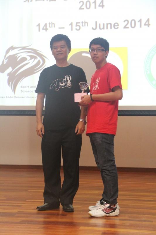 Tarcian Group Champion: Chong Yaw Wen
